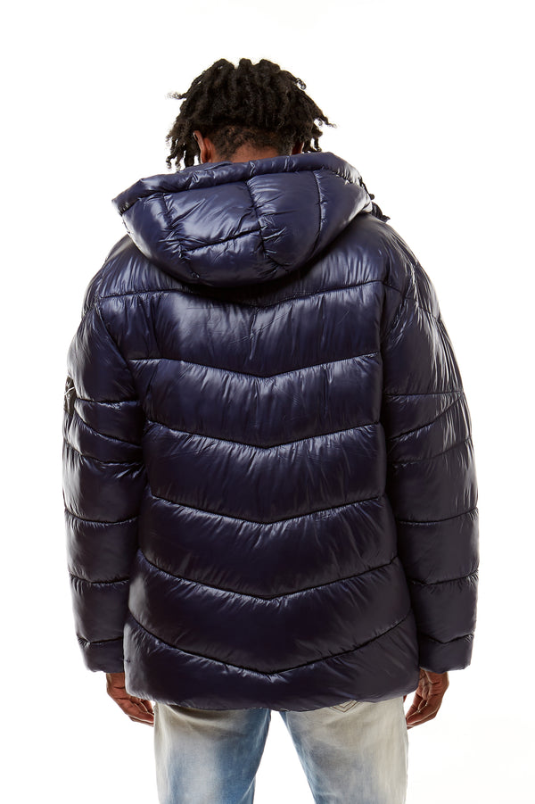 PUFFER JACKET - Smoke Rise Denim