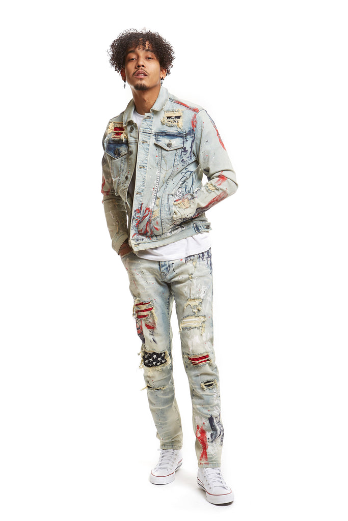 FASHION AMERICANA DENIM PANTS - STEVENS BLUE - Smoke Rise Denim