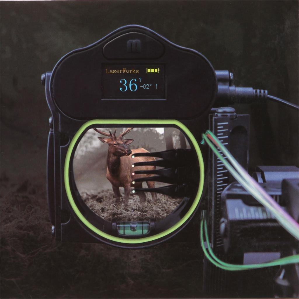 NEW !   Laser 300 Yards Bow sight with rangefinder 5 Pin Four-axis  easy adjustment