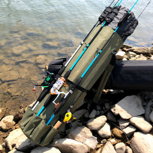 GHOTDA Fishing Bag Rod Carrier and Fishing Reel , lure box and folding chair Tackle Bag
