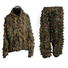 Load image into Gallery viewer, 3D Leaf Adults Ghillie Suit Woodland Camo/Camouflage Hunting Deer Stalking in