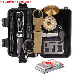 Survival  military grade outdoor 15 pc  emergency and first aid  kit .