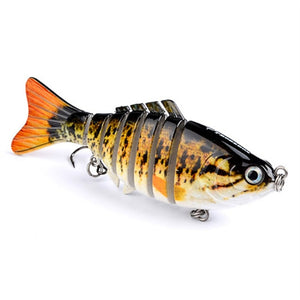 1 PCS  Fishing Lures Artificial Multi Jointed Sections Artificial Hard Bait  LOOKS REAL to FISH !!