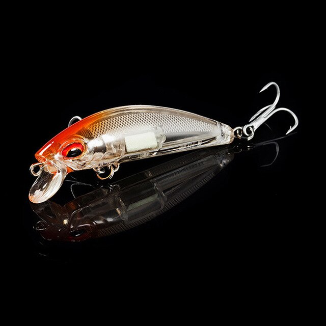 Qxo Fishing Lure sinking Wobbler Fishing Crankbaits with light for night or day fishing