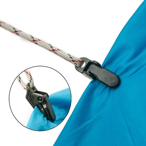 Problems keeping your tent or tarp  tight with out long ropes ?  try this -  10PCS Tent pull point alligator Clip for camping . FREE SHIPPING !