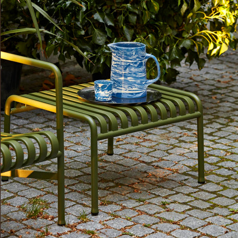 Designed by French brothers Ronan and Erwan Bouroullec, Palissade is a collection of outdoor furniture for HAY in powder coated or hot galvanised steel. United by a common principle of symmetrical geometry, the Palissade collection is engineered to reproduce the same visual simplicity and core strength throughout.