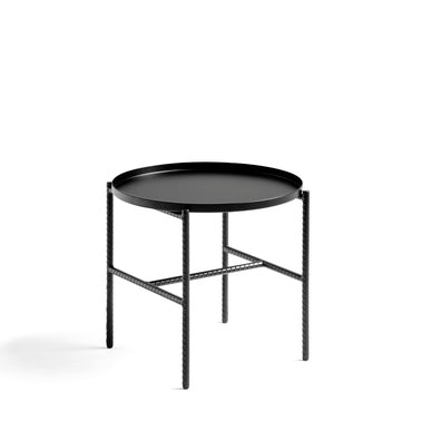 Sylvain Willenz's Rebar collection is a series of coffee-, side- and tray tables that explores the possibilities of reconsidering construction materials and processes. The design juxtaposes the reinforced steel bar frame with black marble tops and metal trays to create a balanced aesthetic. The tables are available in different sizes in round, square and rectangular shapes, and are suitable for using in private, corporate or public spaces.