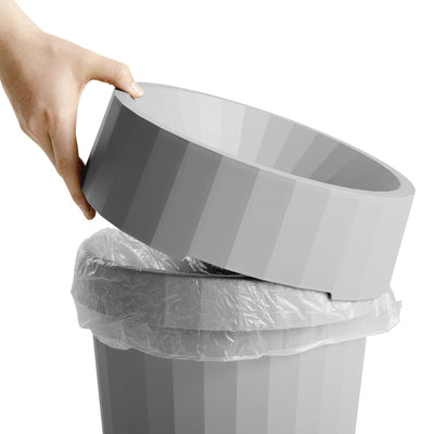 With its clean and distinct silhouette, Thomas Bentzen's Shade Bin combines utility with elegance for office waste. Made in durable polypropylene, the rubbish bin has a matching lid and is available in several colours.