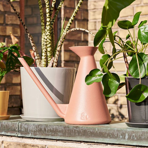 With a clean, handle-free design and elongated spout for easy watering, Shane Schneck's Watering Can is a durable and timeless object with interesting design proportions. Made in weatherproof plastic in different colour options.