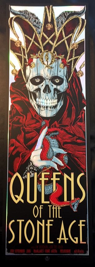 Queens Of The Stone Age by Rhys Cooper (Foil Version)