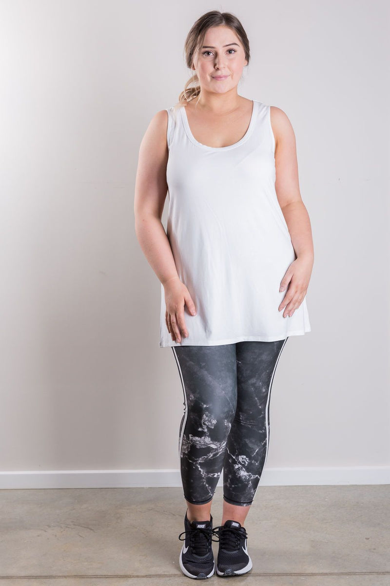 B8 Seven-Eighths length Marble Print Legging