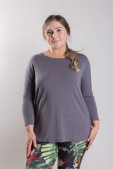 T4 Relaxed Fit Three Quarter Sleeve Tee