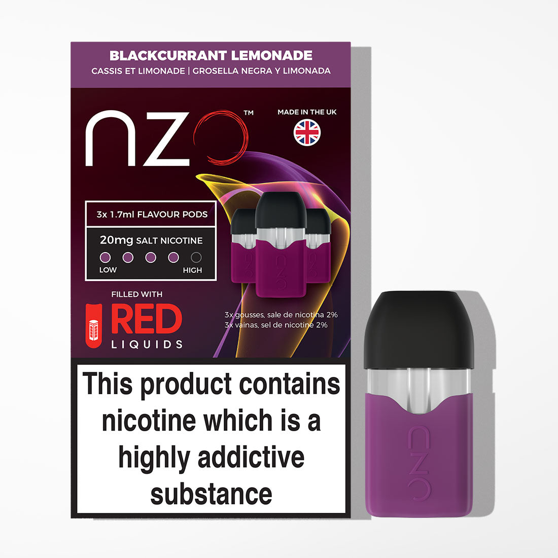 nzo - Blackcurrant Lemonade Pods