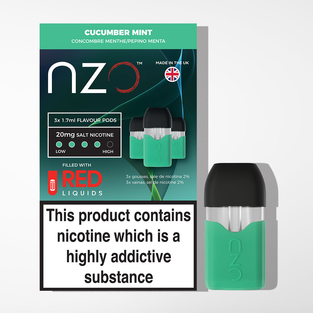 nzo - Cucumber Mint Pods
