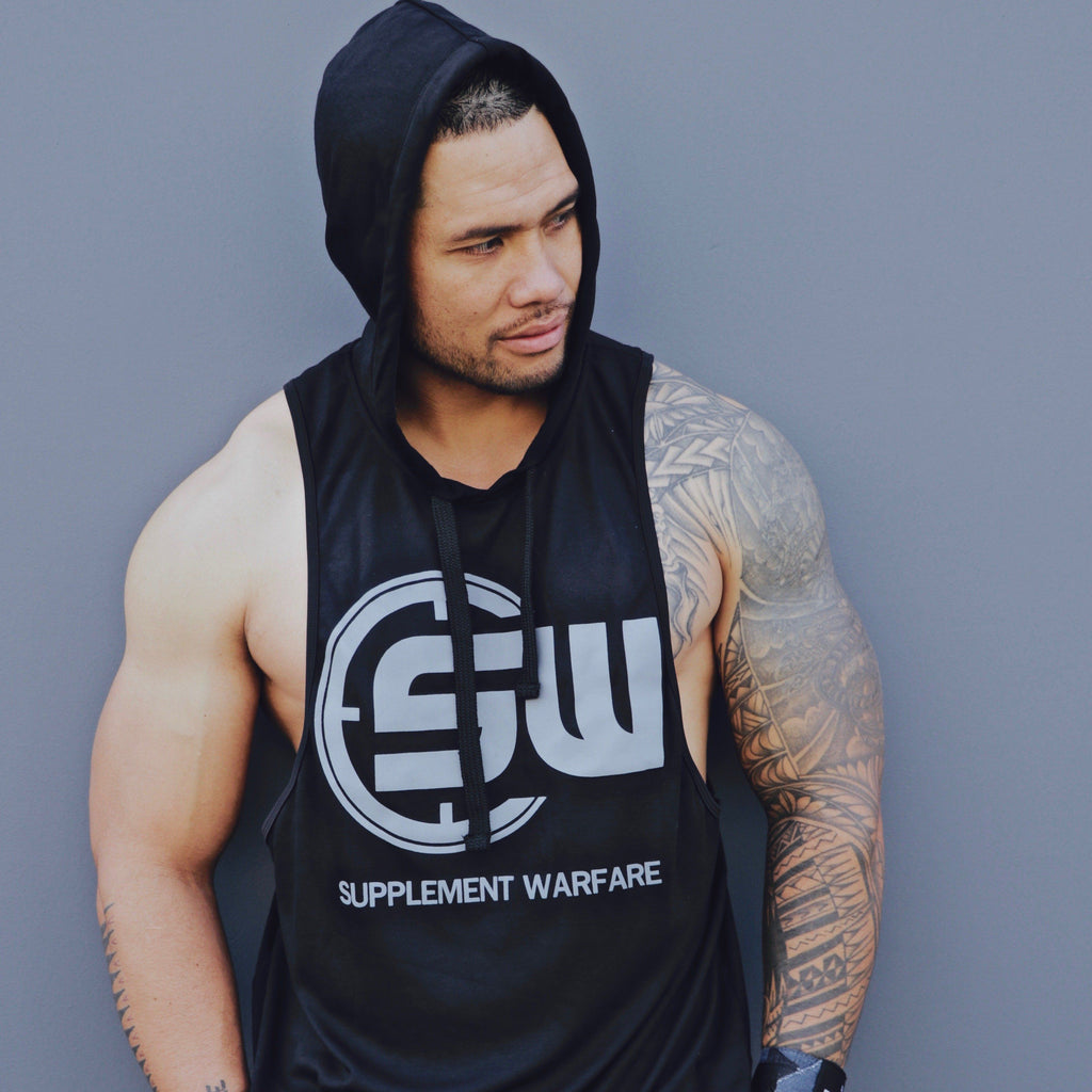 Supplement Warfare Sleeveless Hoody Tank Black