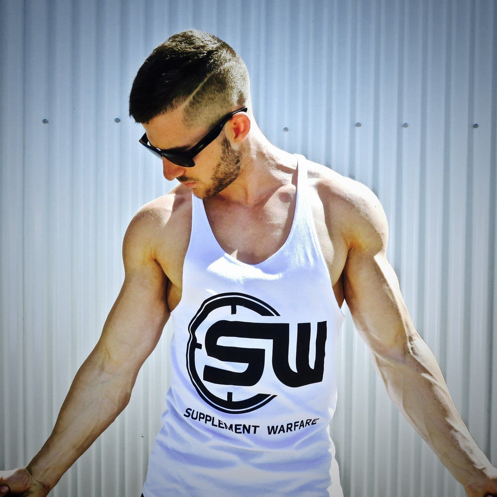 Supplement Warfare White Black Singlet