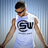 Supplement Warfare White Black Muscle Tank