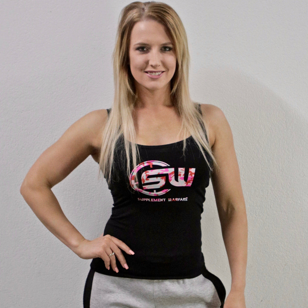 Supplement Warfare Black & Pink Womens Tank