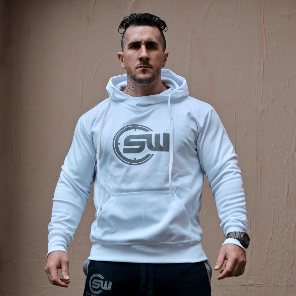 Supplement Warfare Slim Fit White Hoody