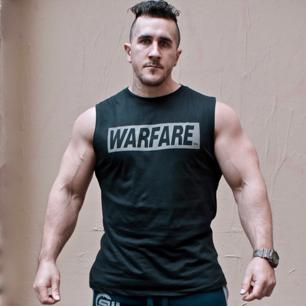 Supplement Warfare Grey Panel Muscle Tank