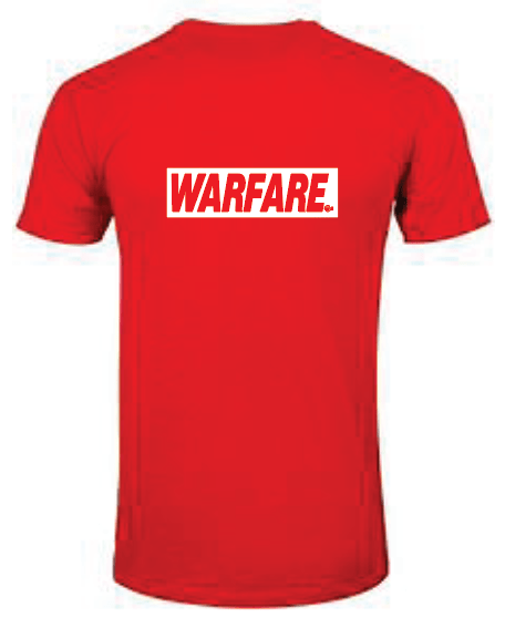 WARFARE Red Tshirt