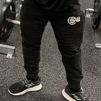 Supplement Warfare Tapered Black Track Pants