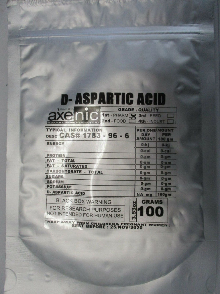 DAA (D Aspartic Acid)  100 Grams