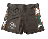 Supplement Warfare Fight Shorts Black & Green Camo