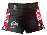 Supplement Warfare Fight Shorts Black & Red Camo