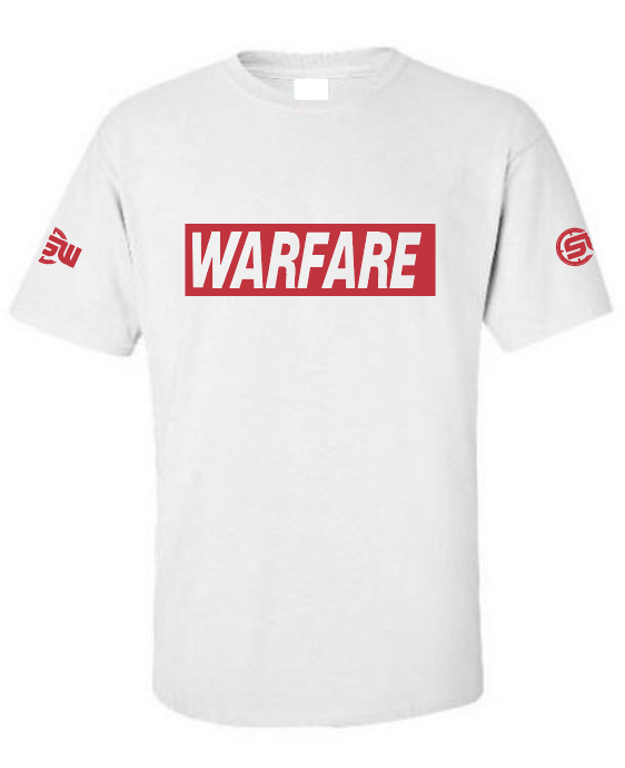 WARFARE White & Red Tshirt
