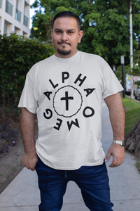 Alpha Omega - Crown and Cross - Big-N-Tall - Broken Chains Apparel