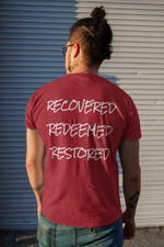 Load image into Gallery viewer, R3 Tee (Recovered, Redeemed, Restored) - Broken Chains Apparel