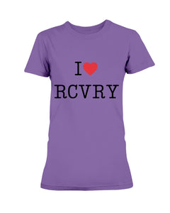I Love Recovery Women's Tee - Broken Chains Apparel