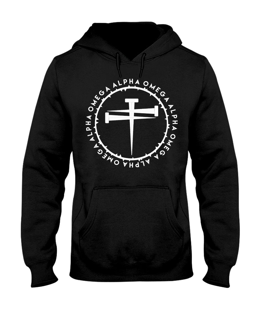 Alpha Omega-Nails-Big-N-Tall-Hoodie - Broken Chains Apparel