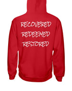 Load image into Gallery viewer, R3 Hoodie (Recovered, Redeemed, Restored) - Broken Chains Apparel
