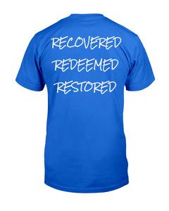 R3 Tee (Recovered, Redeemed, Restored) - Broken Chains Apparel