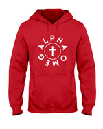Load image into Gallery viewer, Alpha Omega-Crown and Cross-Hoodie - Broken Chains Apparel