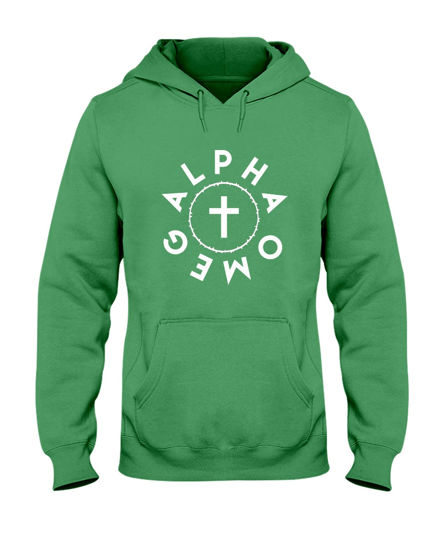 Alpha Omega-Crown and Cross-Hoodie - Broken Chains Apparel