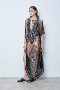 Noche Long Net Dress