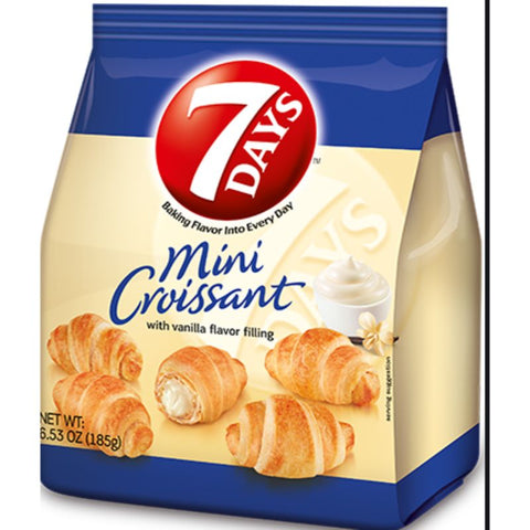 7 DAYS MINI CROISSANTS WITH VANILLA FLAVOR FILLING