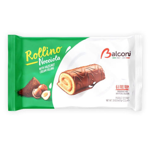 BALCONI ROLLINA NOCCIOLA WITH HAZELNUT CREAM FILLING