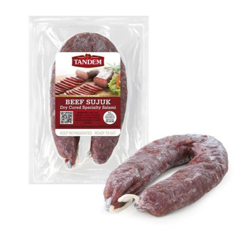 BEEF SUJUK DRY CURED SPECIALTY SALAMI TANDEM - European Grocery USA