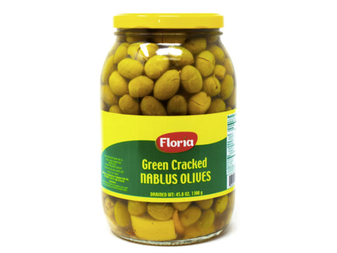 FLORIA GREEN CRACKED NABLUS OLIVES