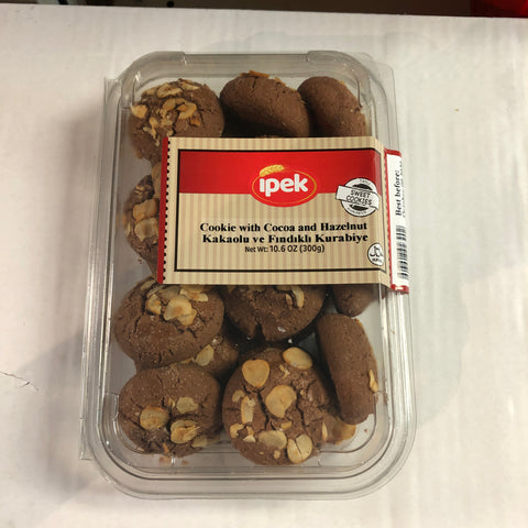 IPEK COOKIE WITH COCOA AND HAZELNUT KAKAOLU VE FINDIKLI KURABIYE NET 300 GRAMS