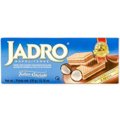 JADRO NAPOLITANKE WAFER WITH COCONUT AND CHOCOLATE FILLING