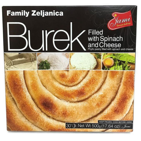 JAMI BUREK FILLED WITH SPINACH AND CHEESE
