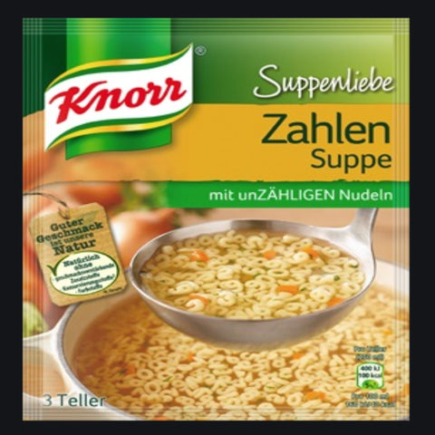 KNORR ZAHLEN SUPPE