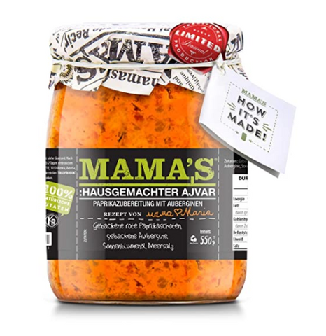 MAMA'S ROASTED PEPPER SPREAD MILD