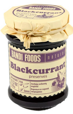 NATURAL BANDI FOODS BLACKCURRANT PRESERVES