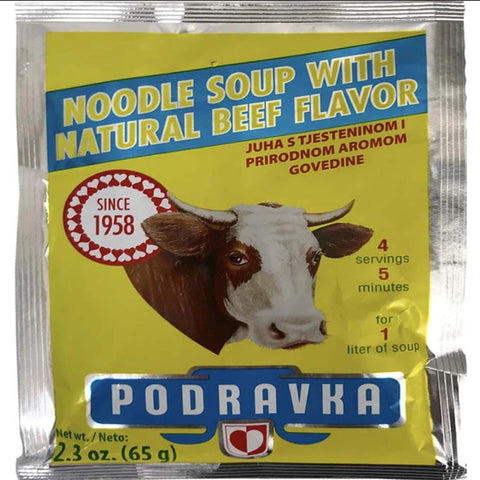 PODRAVKA NOODLE SOUP WITH NATURAL BEEF FLAVOR